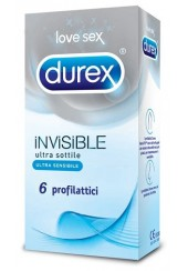 DUREX INVISIBLE 6 PROFILATTICI IN LATTICE