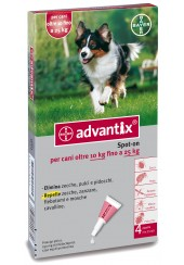 Advantix spot on per cani oltre i 10 kg fino ai 25 kg - 4 pipette